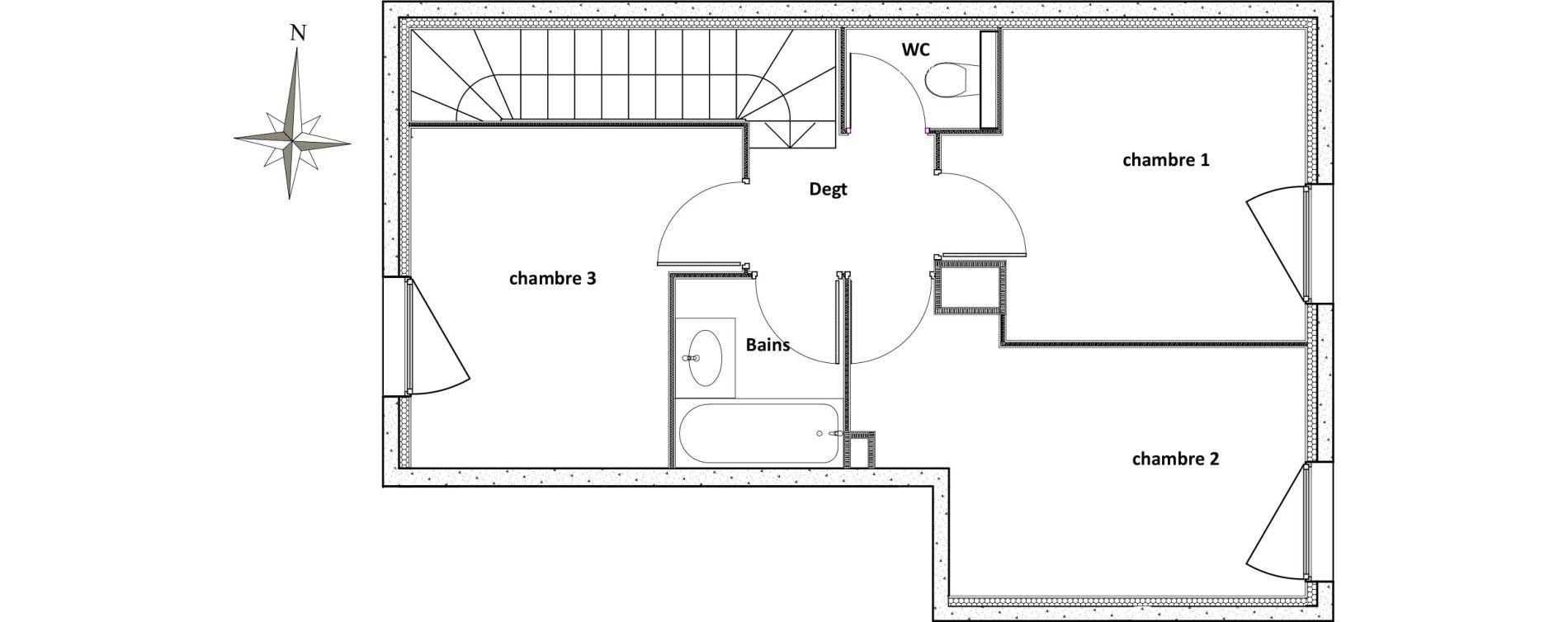 Duplex T4 de 80,16 m2 à Villeurbanne Centre