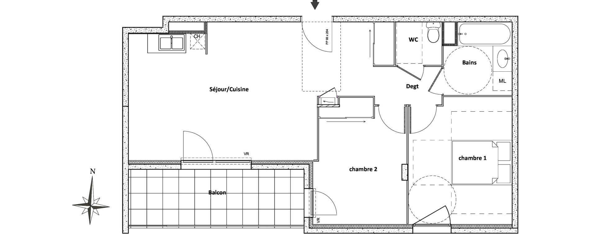 Appartement T3 de 62,16 m2 à Villeurbanne Centre