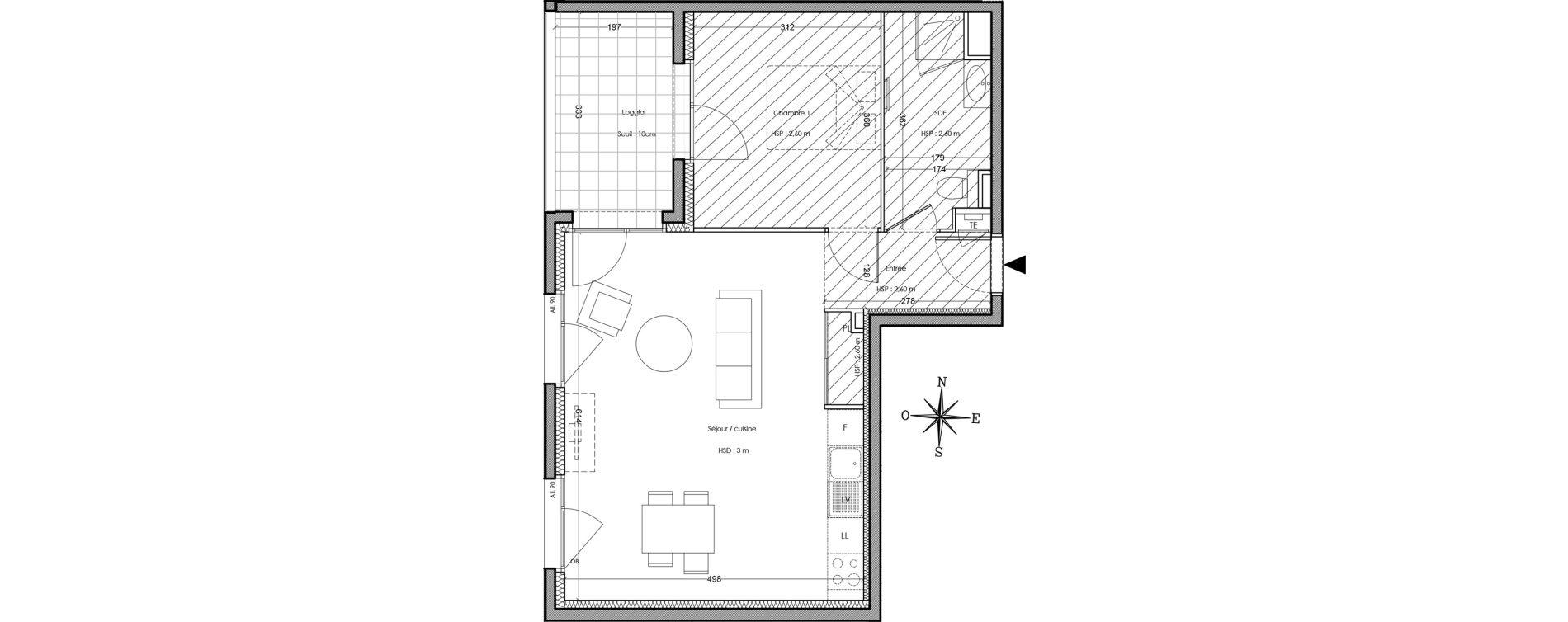 Appartement T2 de 50,00 m2 à Villeurbanne Cusset - bonnevay