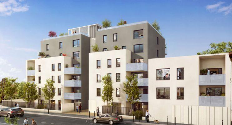 Villeurbanne : programme immobilier neuf « Rouss'Ô » en Loi Pinel