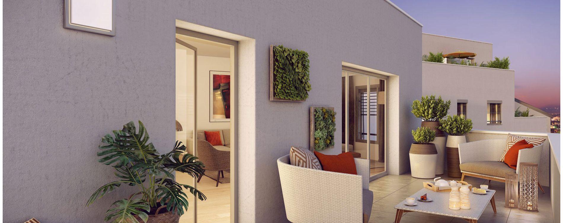 Villeurbanne : programme immobilier neuve « Square Verde » en Loi Pinel