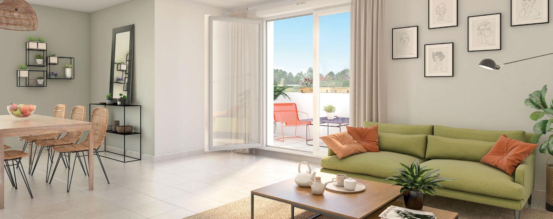Villeurbanne : programme immobilier neuve « Square Verde » en Loi Pinel (5)