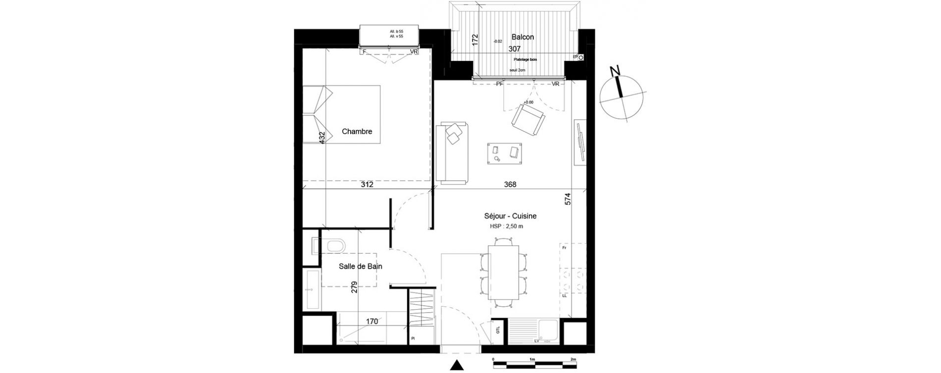 Plan T2 neuf à Villeurbanne de