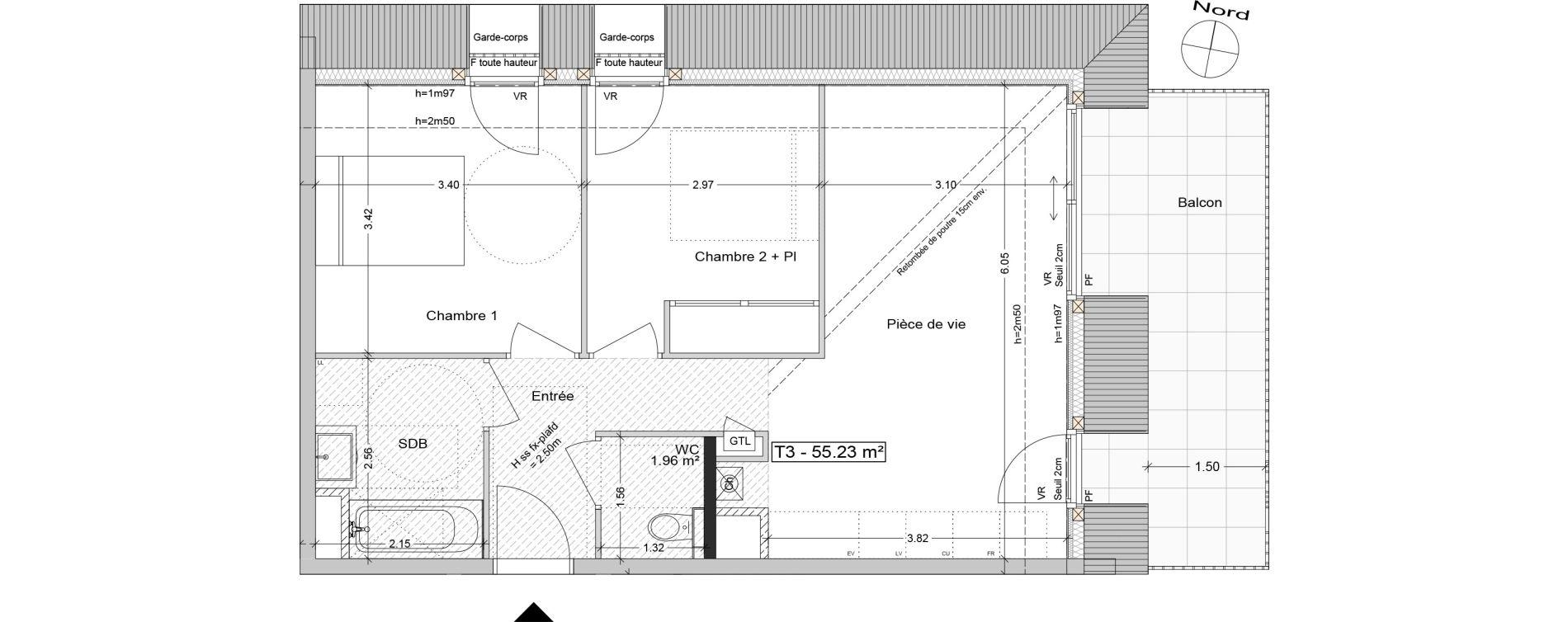 Plan T3 neuf à Aix-les-Bains de