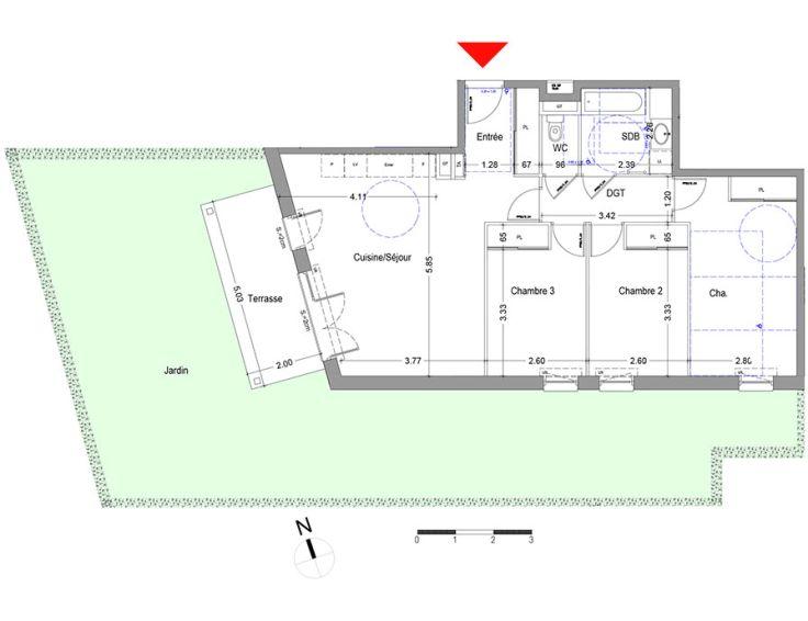 Appartement t4 l 39 aixquisse aix les bains n536 for Appartement jardin 78