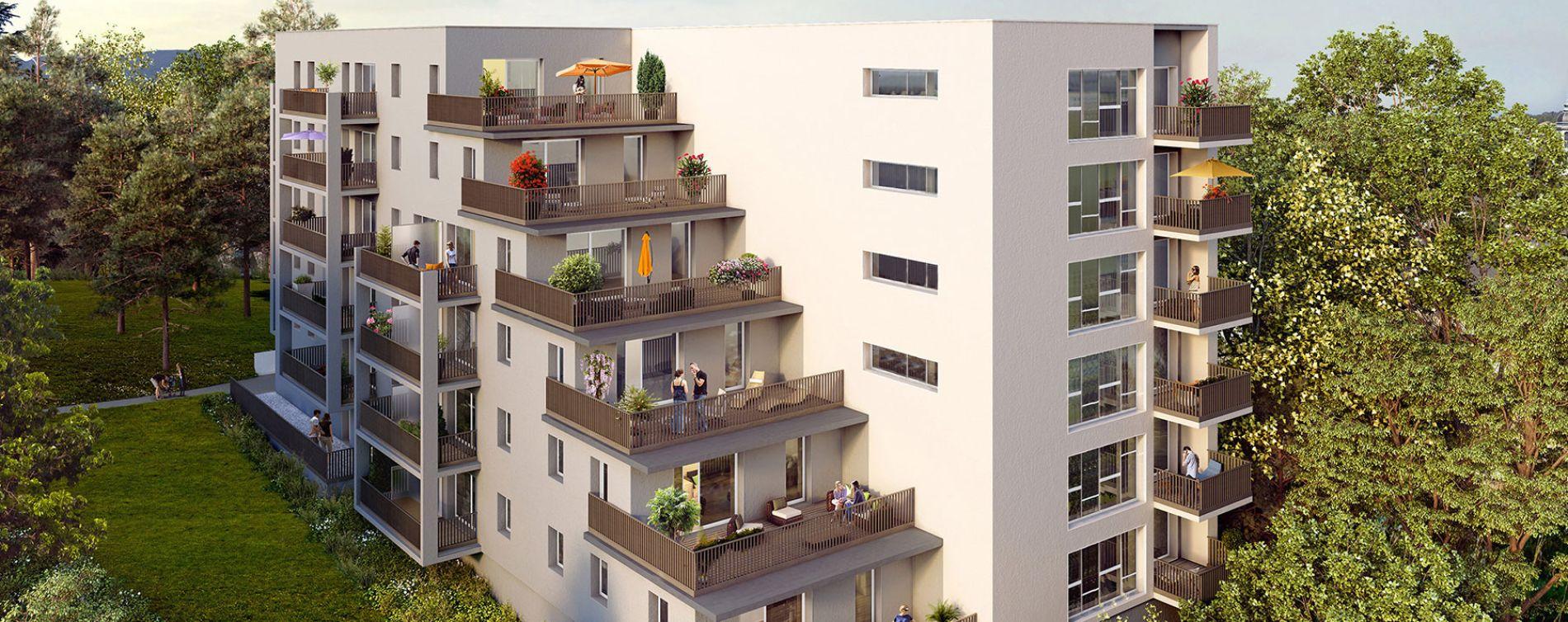 Chambéry : programme immobilier neuve « Castel View » en Loi Pinel