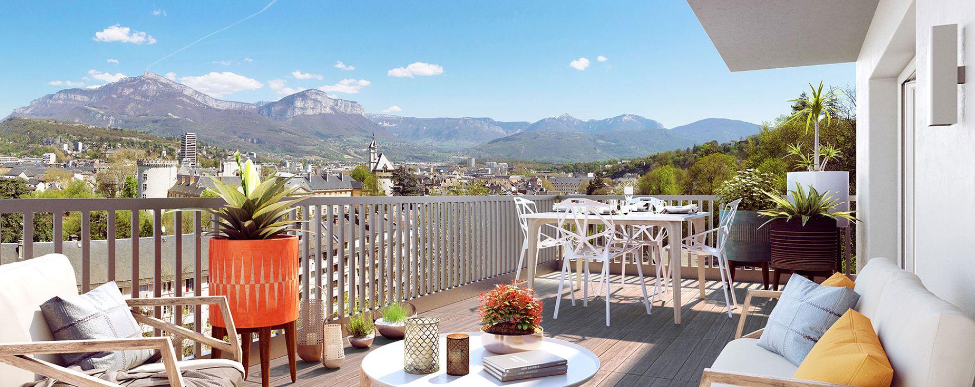 Chambéry : programme immobilier neuve « Castel View » en Loi Pinel (2)