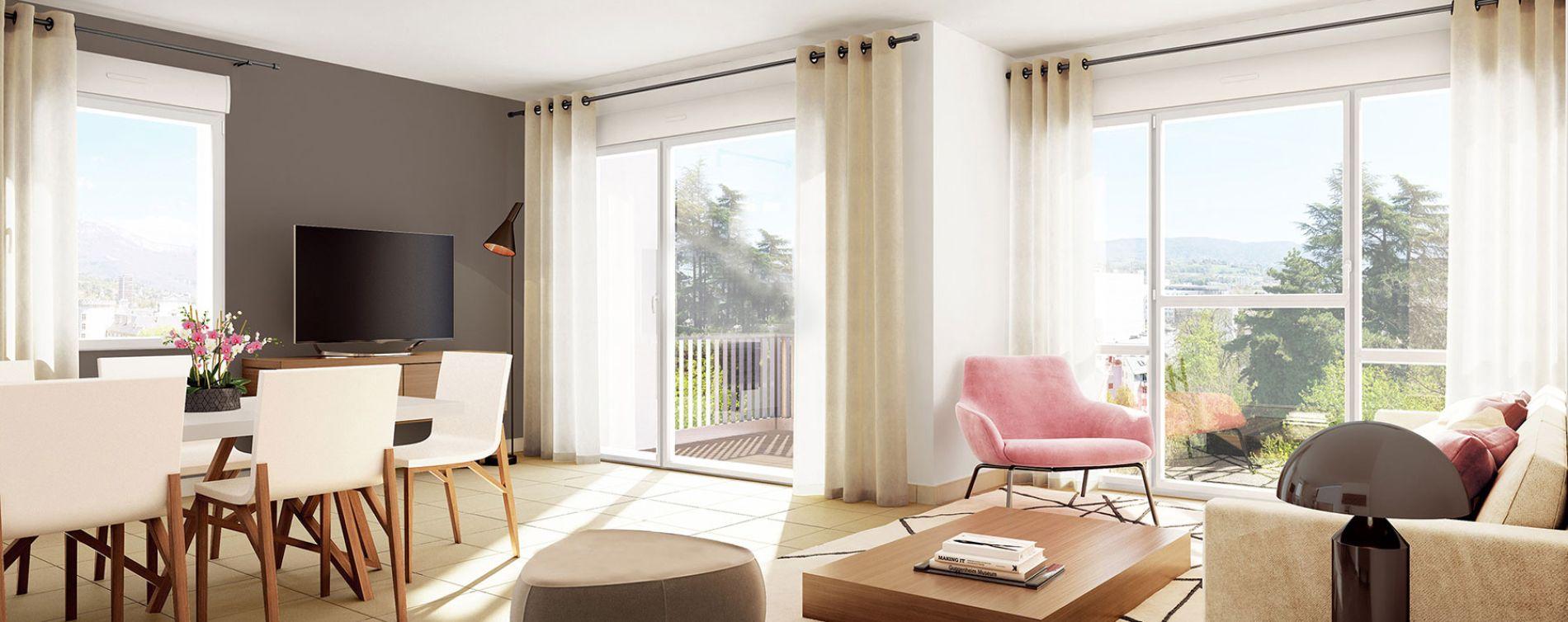 Chambéry : programme immobilier neuve « Castel View » en Loi Pinel (3)