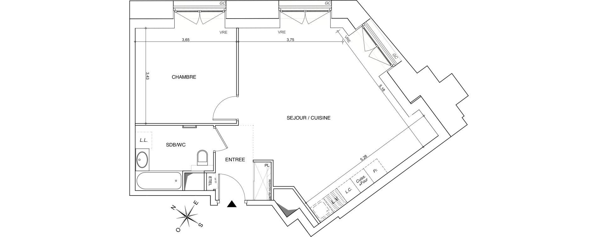 Appartement T2 de 55,94 m2 à Chambéry Centre