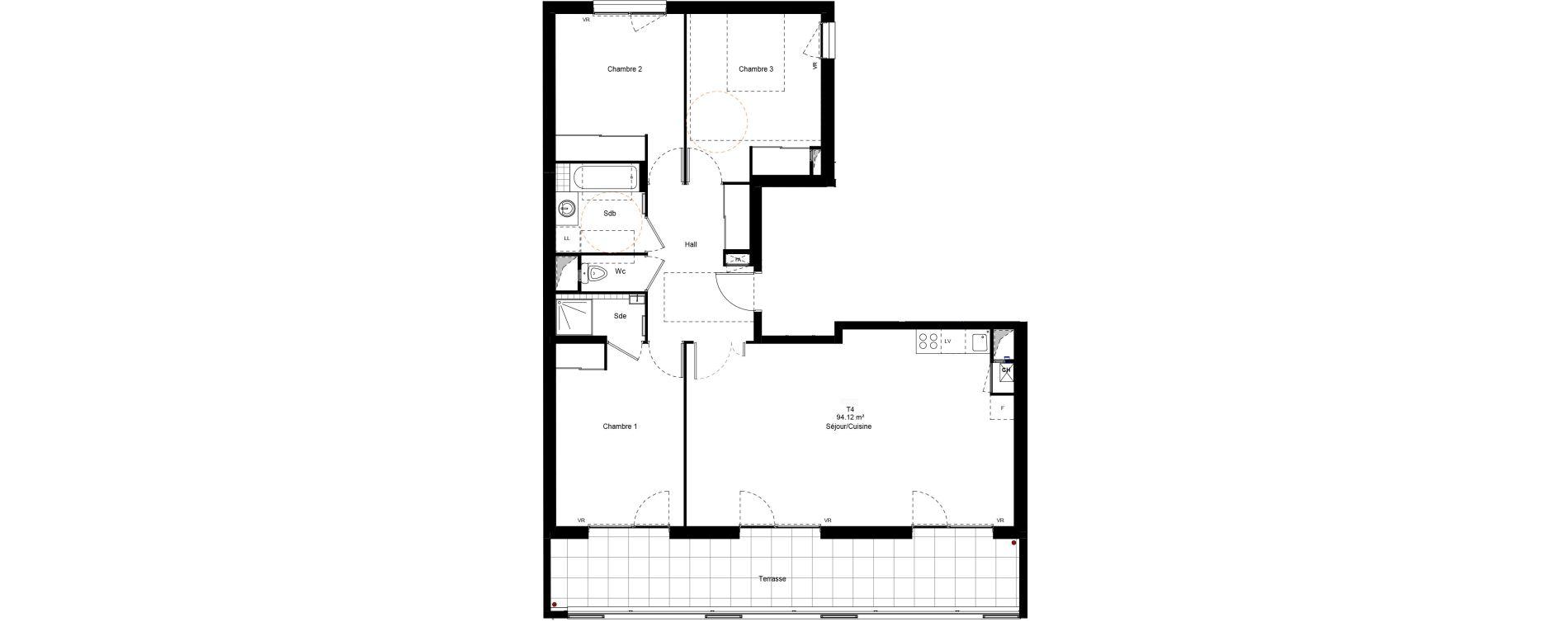 Appartement T4 de 94,12 m2 à Chambéry Centre