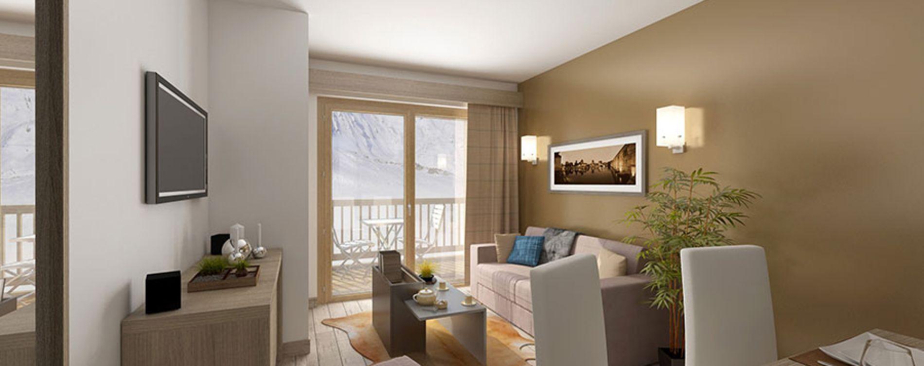 Mâcot-la-Plagne : programme immobilier neuve « Front de Neige » (5)