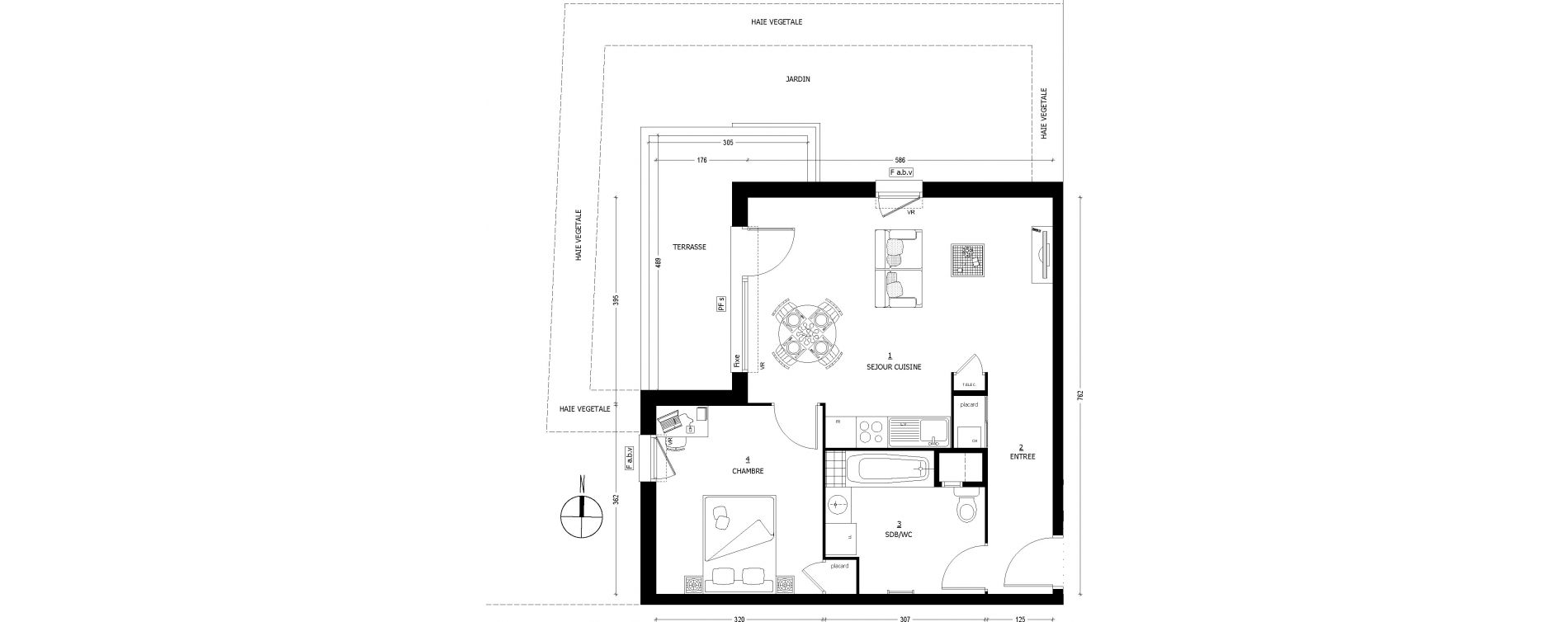Appartement T2 de 49,30 m2 à Saint-Baldoph Centre