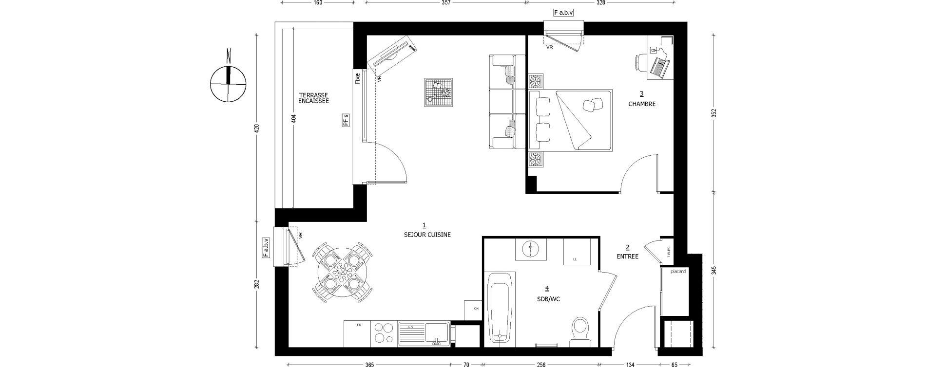 Appartement T2 de 52,15 m2 à Saint-Baldoph Centre
