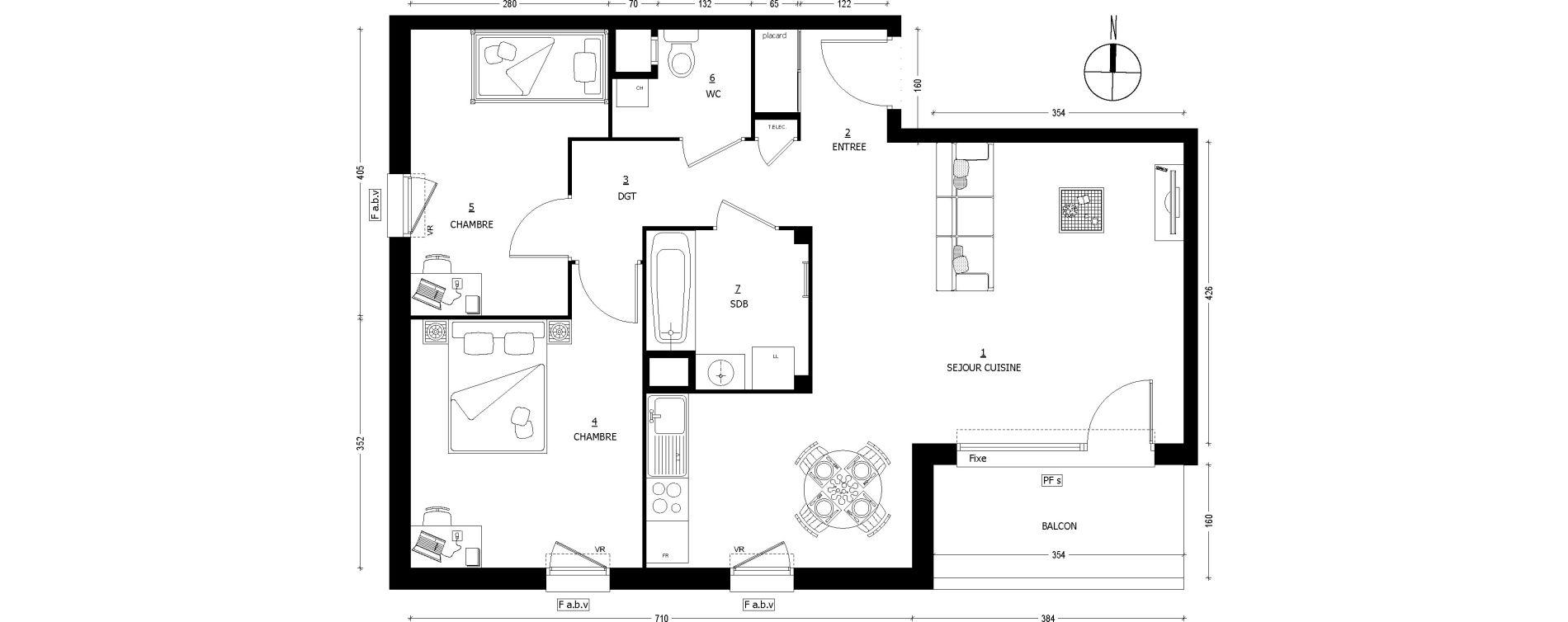 Appartement T3 de 67,46 m2 à Saint-Baldoph Centre