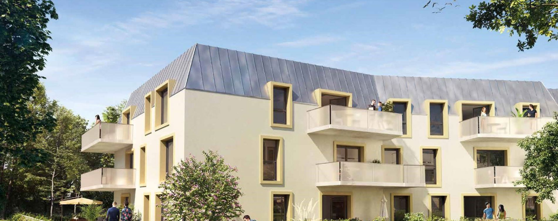 Dijon : programme immobilier neuve « Fenêtre sur Parc » en Loi Pinel