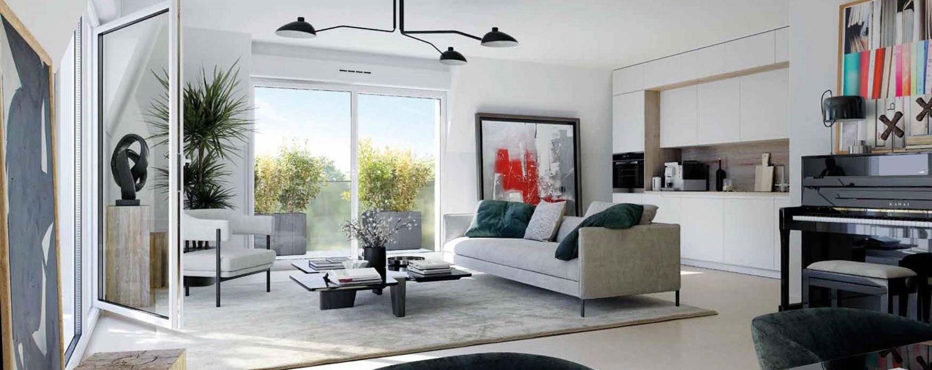 Dijon : programme immobilier neuve « Fenêtre sur Parc » en Loi Pinel (3)