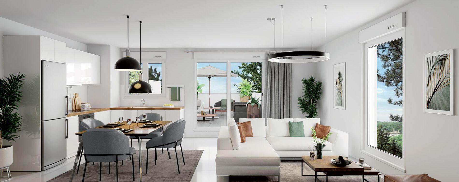 Dijon programme immobilier neuve « Latitude 87 » en Loi Pinel  (2)