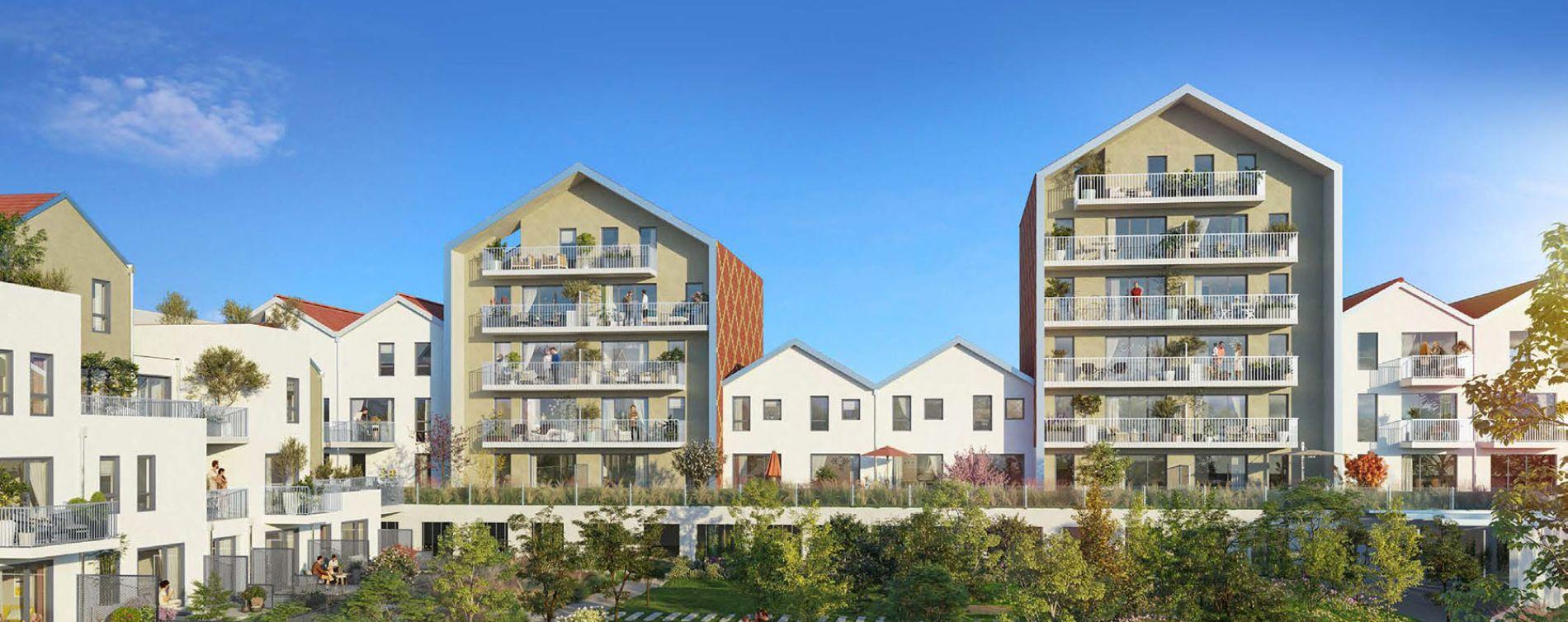 Dijon : programme immobilier neuve « Reflets Jardin » en Loi Pinel