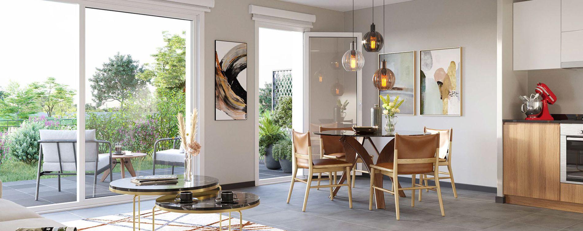 Dijon : programme immobilier neuve « Reflets Jardin » en Loi Pinel (2)