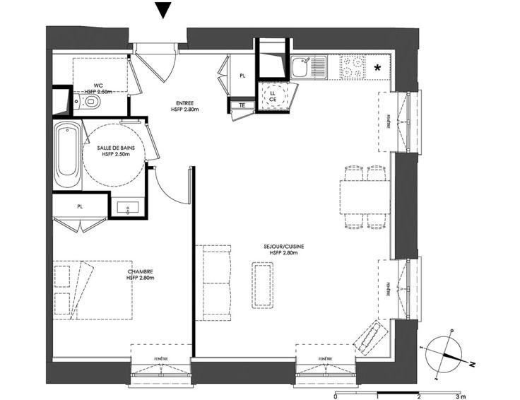 Appartement T2 Domaine Saint Louis Chalon Sur