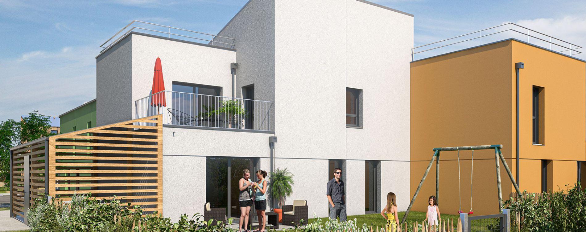 Saint-Brieuc : programme immobilier neuve « Les Villes Dorées » (2)