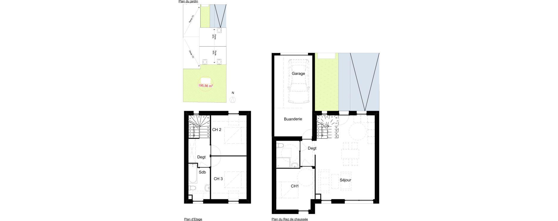 Maison T4 de 79,40 m2 à Brest Lambezellec