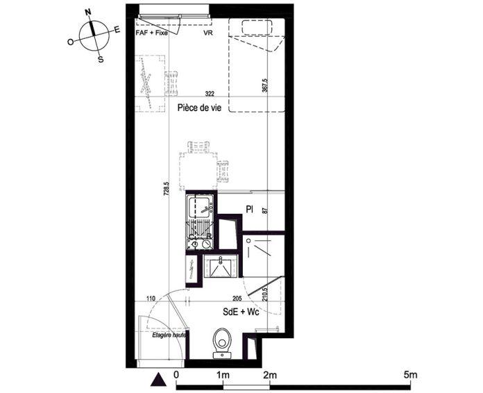 Plan Studio neuf à Brest de