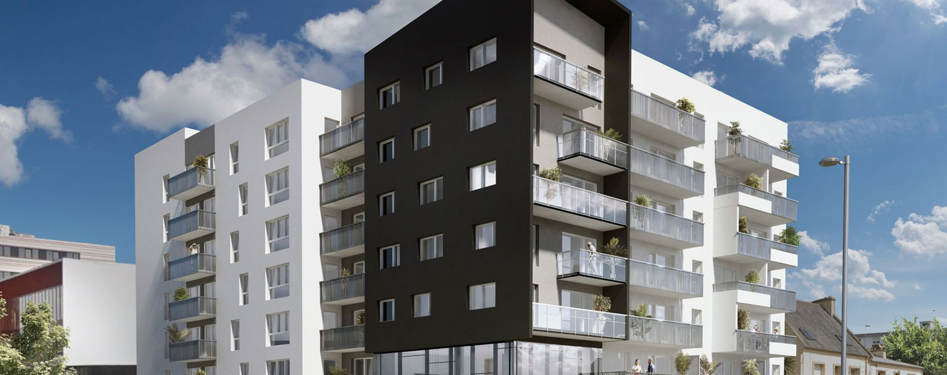 Brest : programme immobilier neuve « Oh Activ - Brest » (2)
