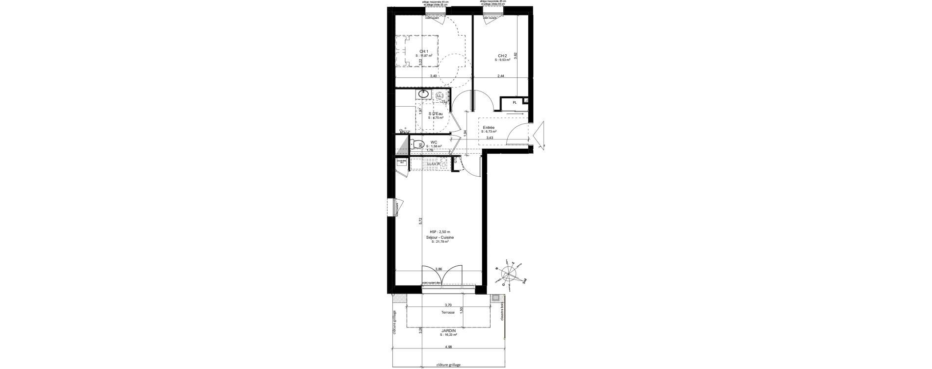 Appartement T3 de 56,36 m2 à Douarnenez Douarnenez centre