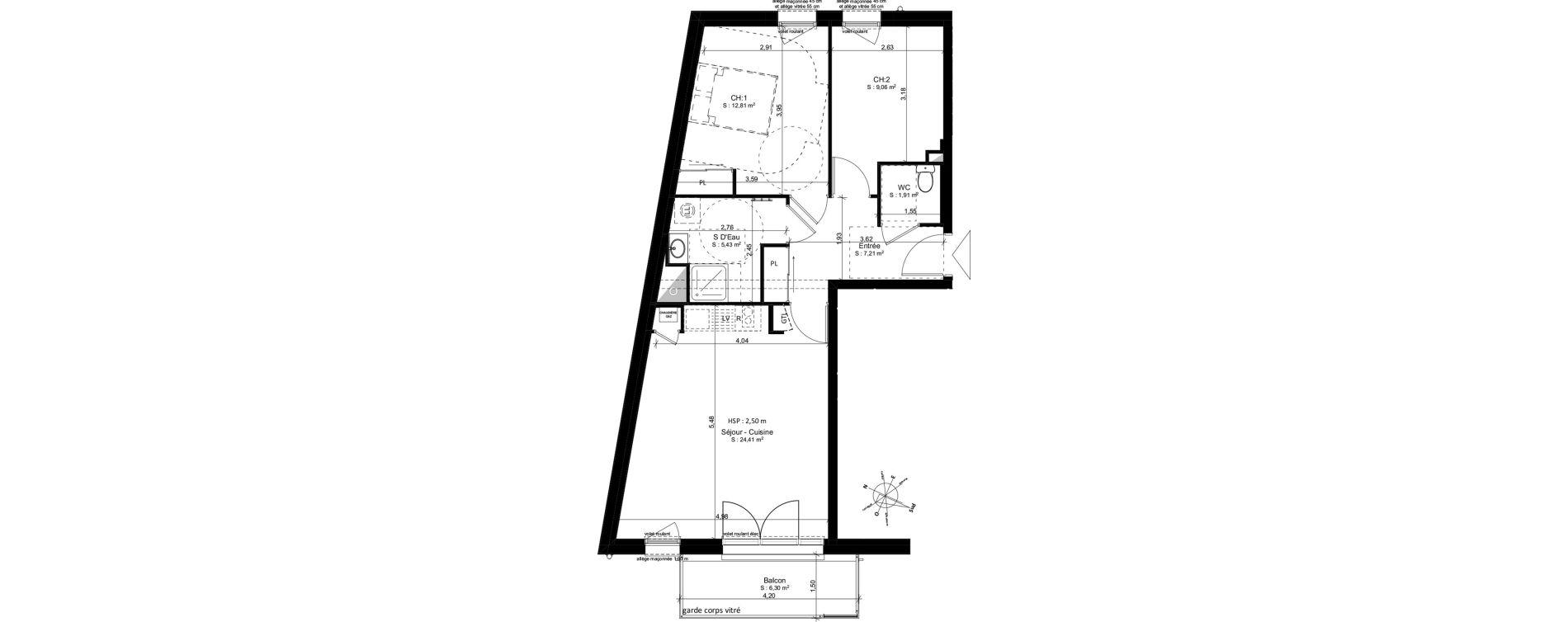 Appartement T3 de 61,07 m2 à Douarnenez Douarnenez centre
