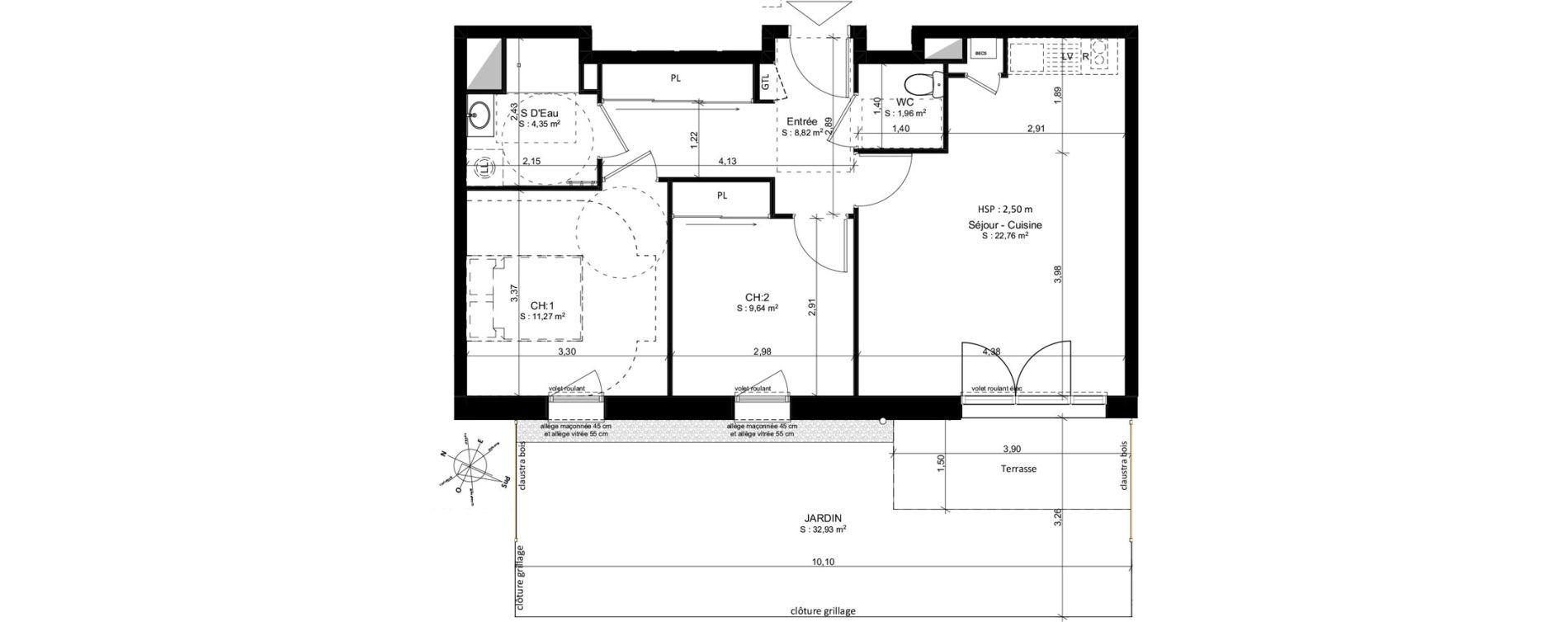 Appartement T3 de 58,83 m2 à Douarnenez Douarnenez centre