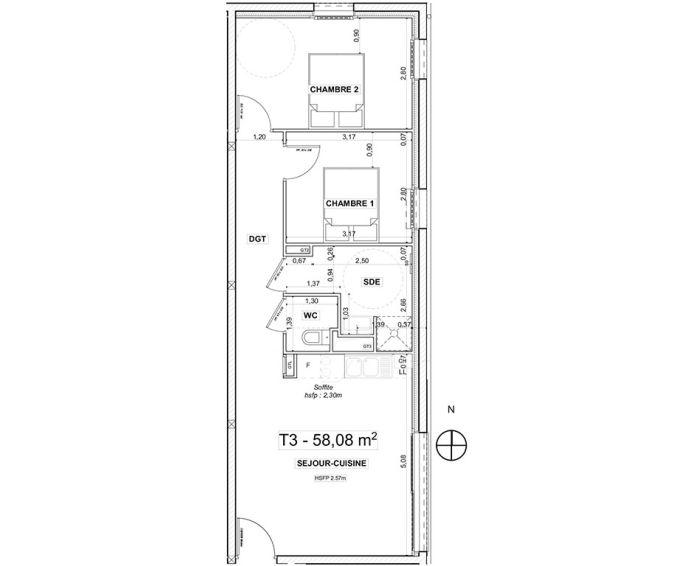 Plan T3 neuf à Ergué-Gabéric de