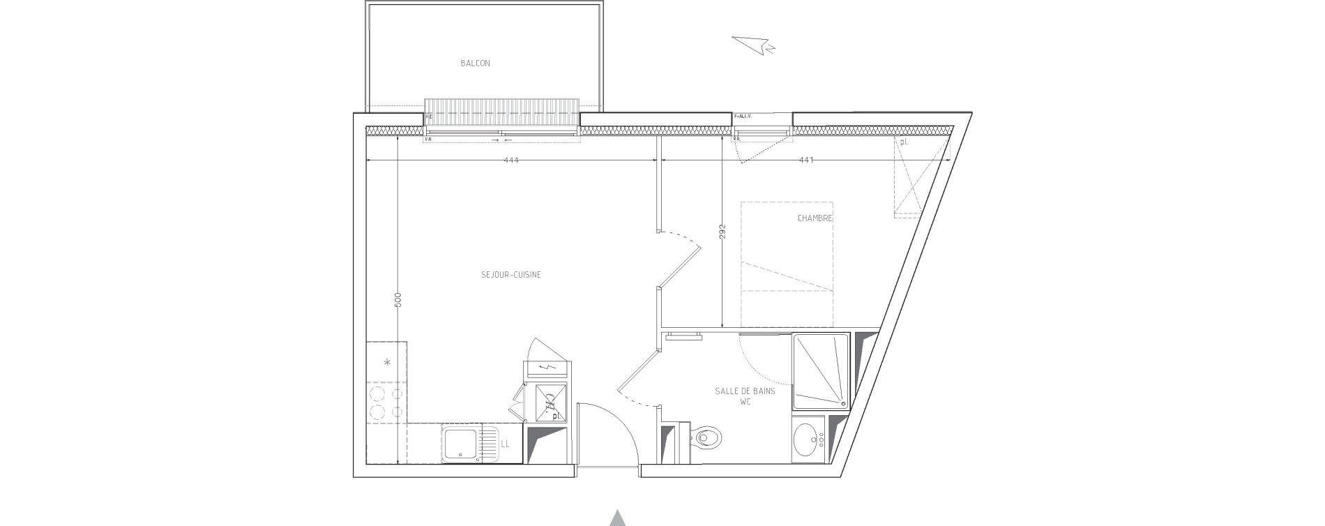 Appartement T2 de 38,05 m2 à Guilers Centre