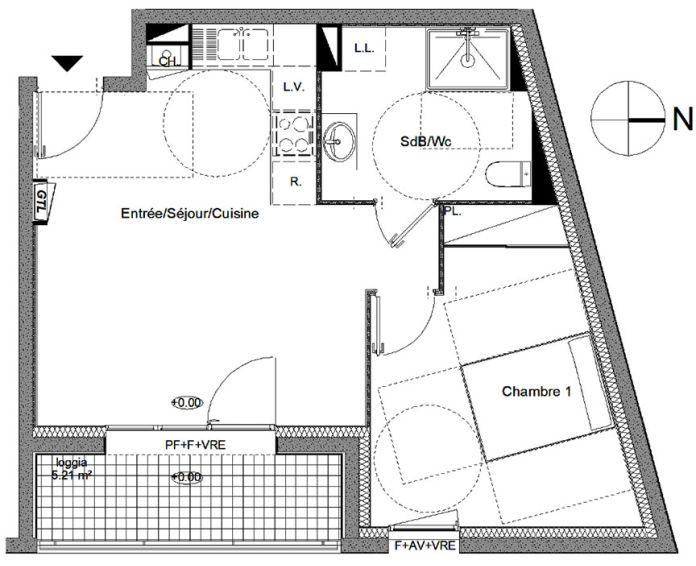 Plan T2 neuf à Guipavas de