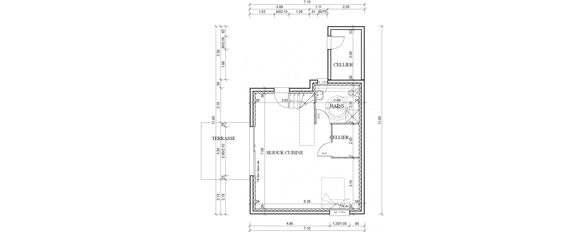 Maison T4 de 81,27 m2 à Lesneven Stréat veur
