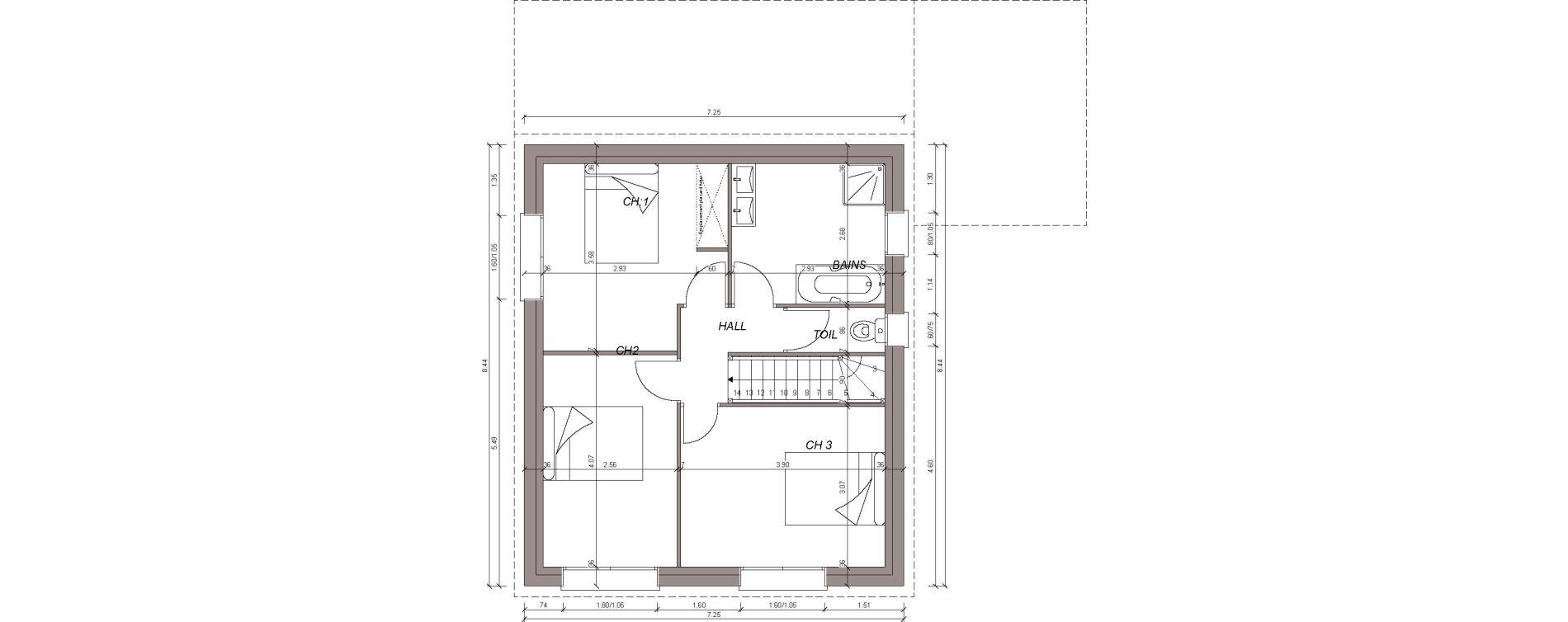 Maison T4 de 110,65 m2 à Plouzané Plouzane la trinité