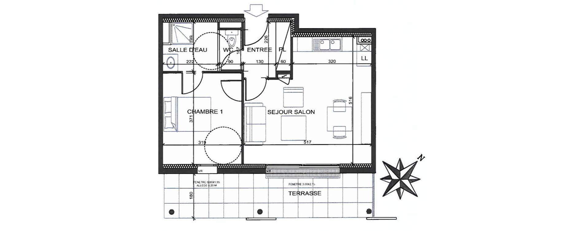 Plan T2 neuf à Quimper de