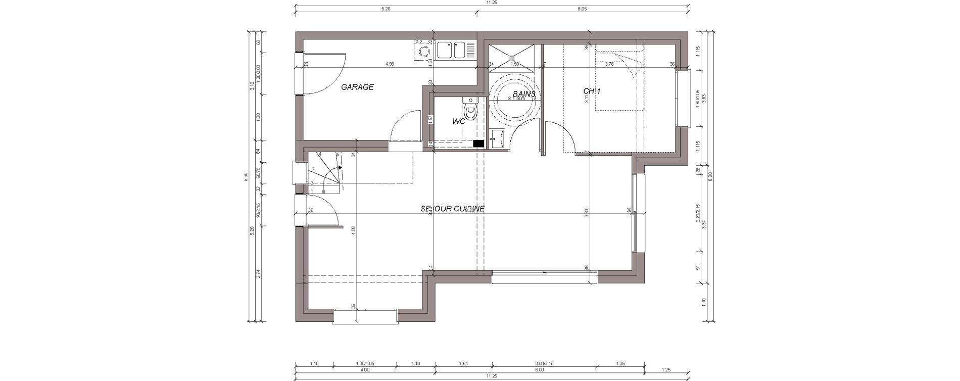 Maison T5 de 96,66 m2 à Saint-Pol-De-Léon Centre