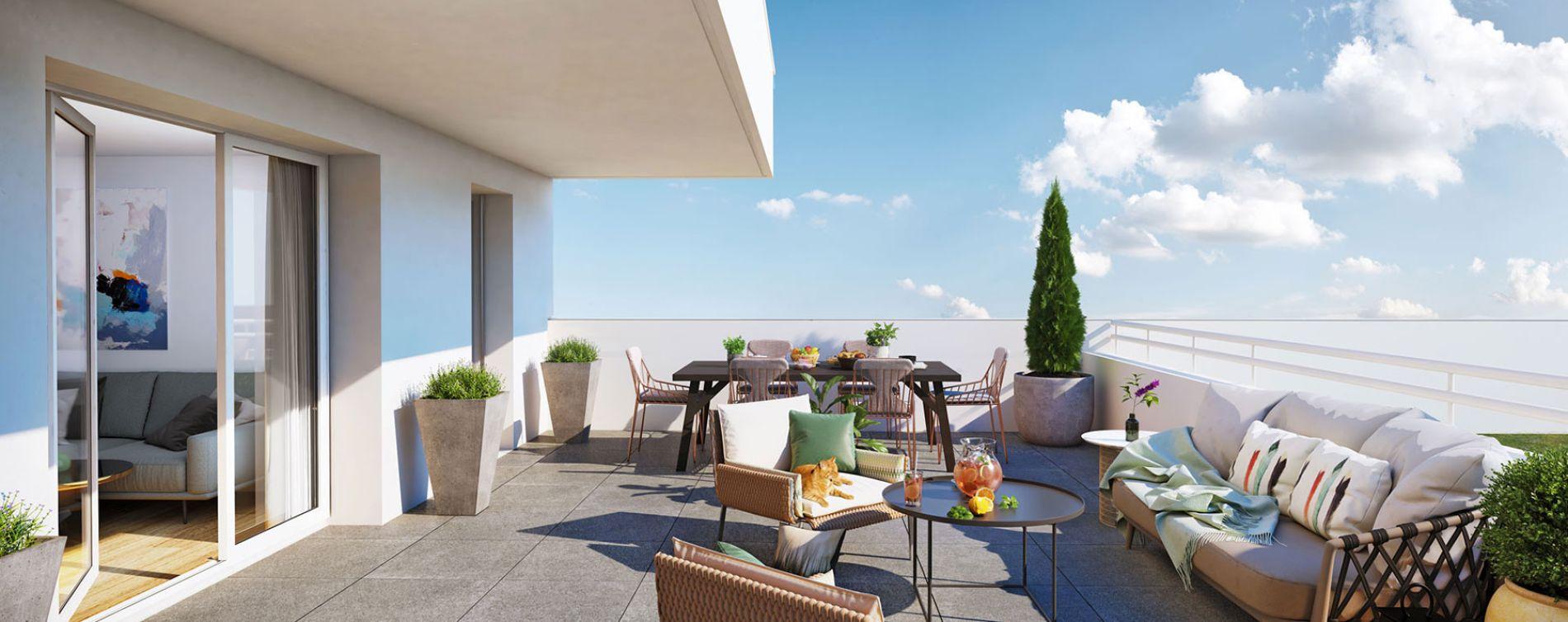 Cesson-Sévigné : programme immobilier neuve « Patio Sévigné » en Loi Pinel