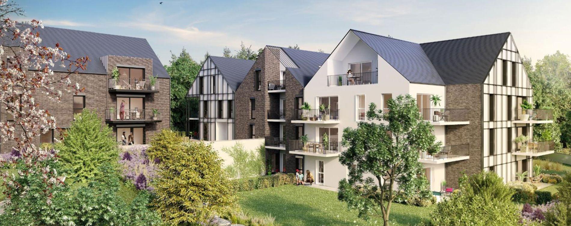 Dinard : programme immobilier neuve « Le Clos de la Vicomté » en Loi Pinel