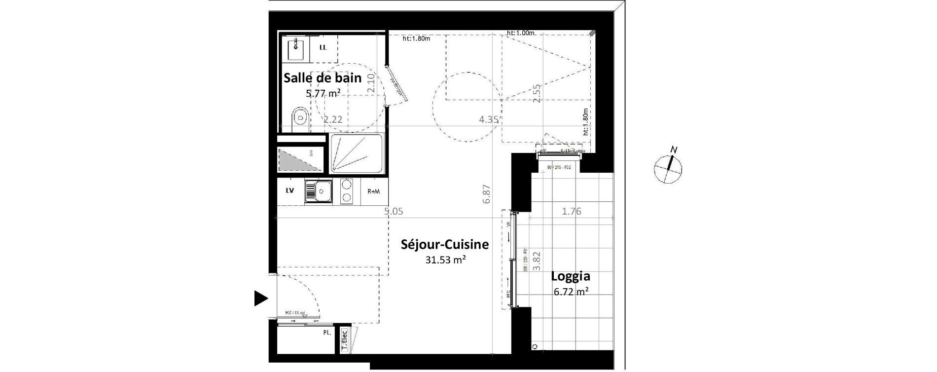 Studio de 37,29 m2 à Gévezé Centre