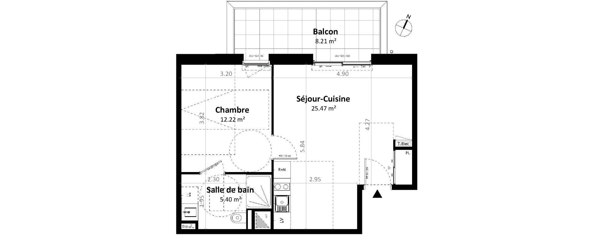 Appartement T2 de 43,10 m2 à Gévezé Centre
