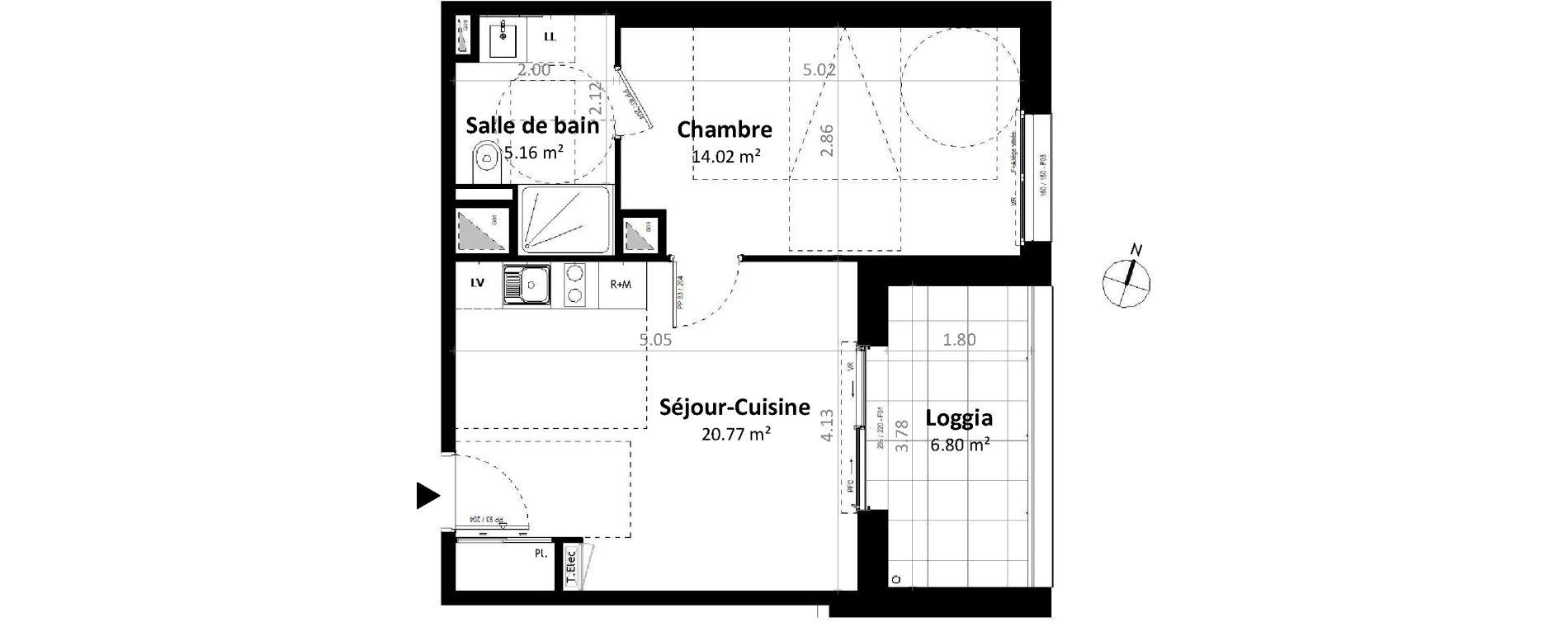 Appartement T2 de 39,95 m2 à Gévezé Centre