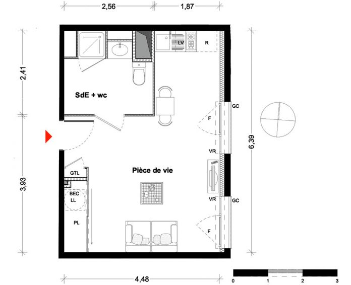 Appartement t1 rennes n 264 est programme neuf for Appartement neuf 95