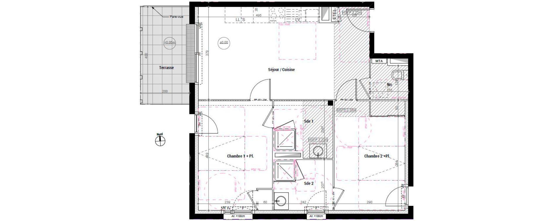Appartement T3 de 65,10 m2 à Rennes Normandie-saumurois