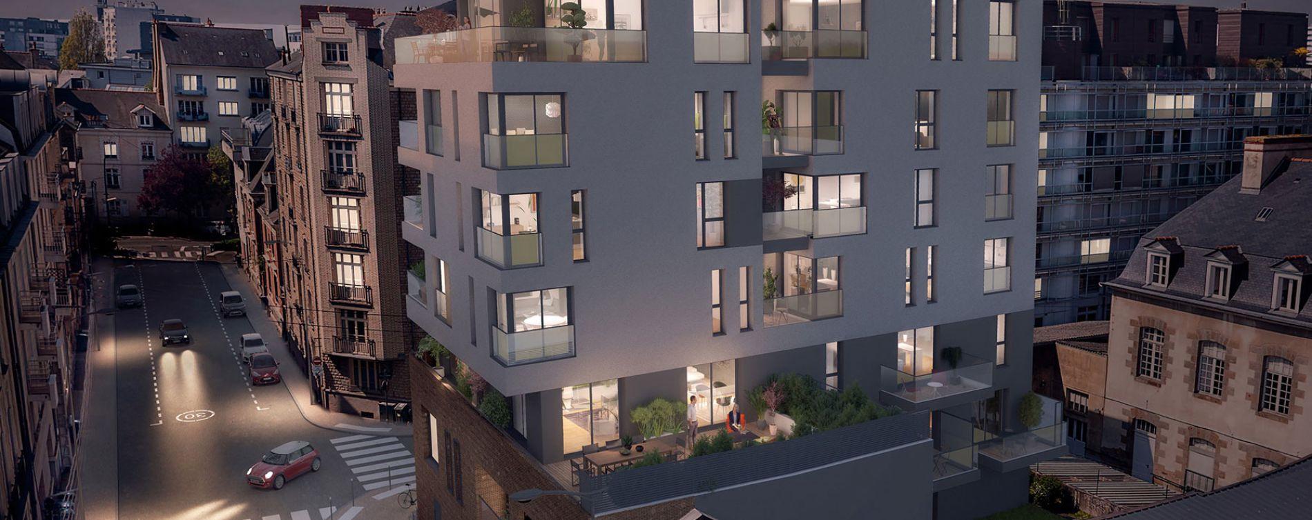 Rennes : programme immobilier neuve « Le Gabriel » en Loi Pinel