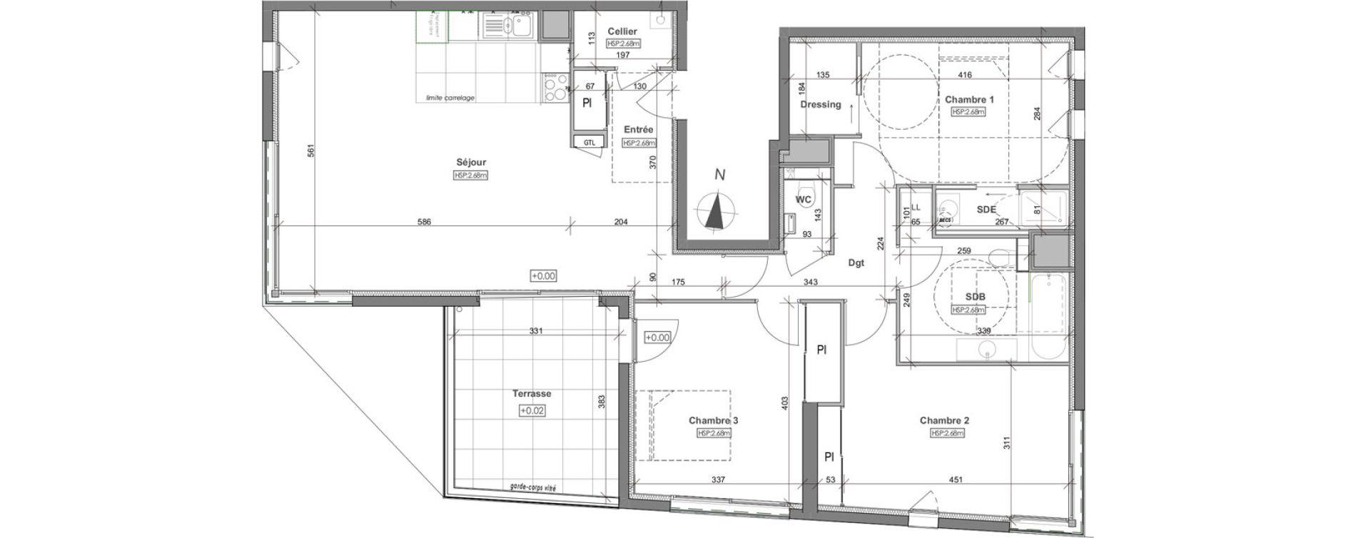 Appartement T4 de 106,34 m2 à Rennes Arsenal - redon