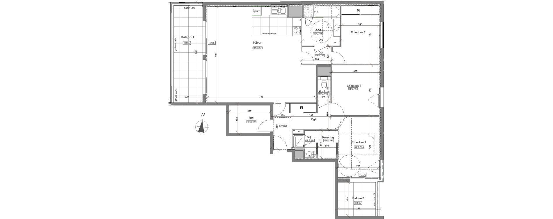Appartement T4 de 109,52 m2 à Rennes Arsenal - redon
