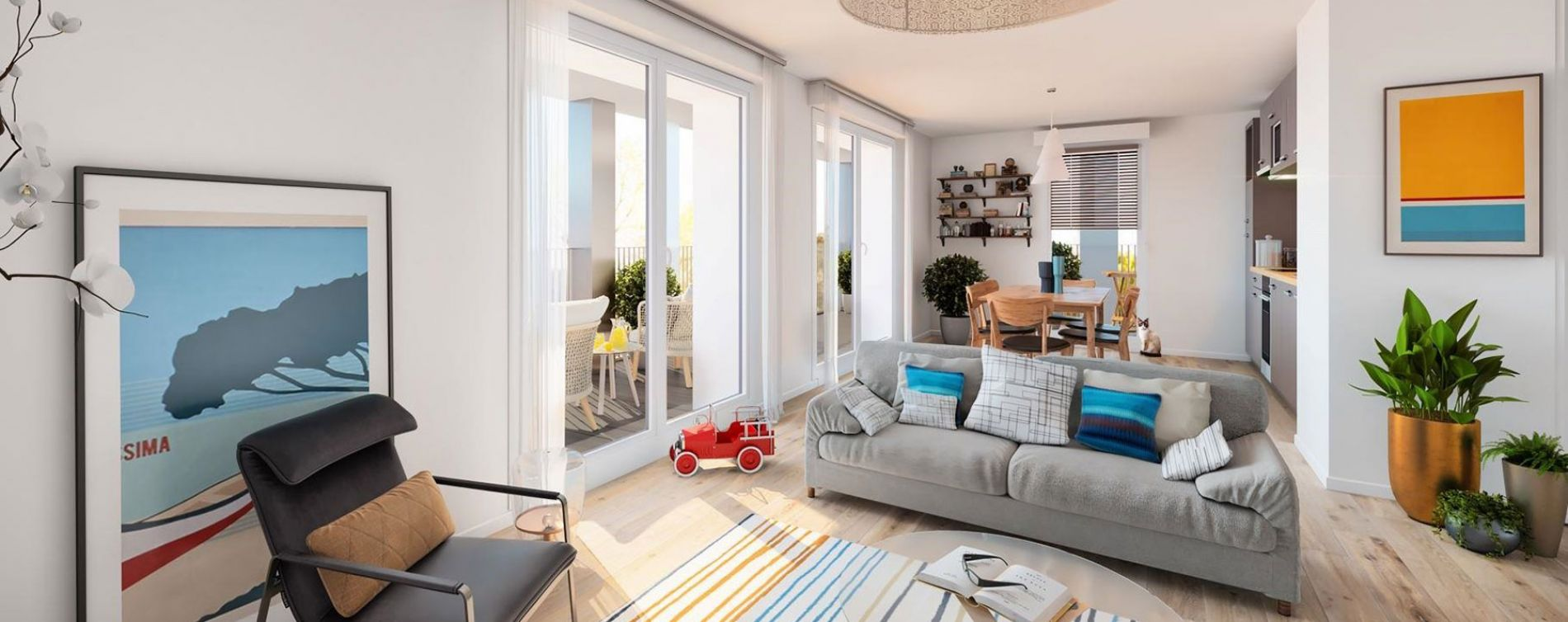 Rennes : programme immobilier neuve « L'Esplanade » en Loi Pinel (3)