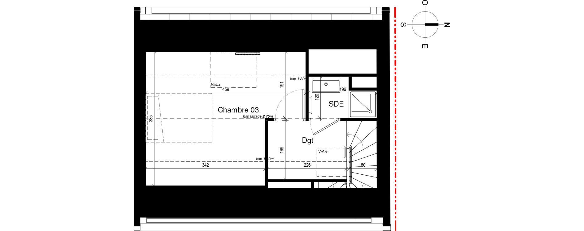 Maison T4 de 82,79 m2 à Rennes Sacré coeurs